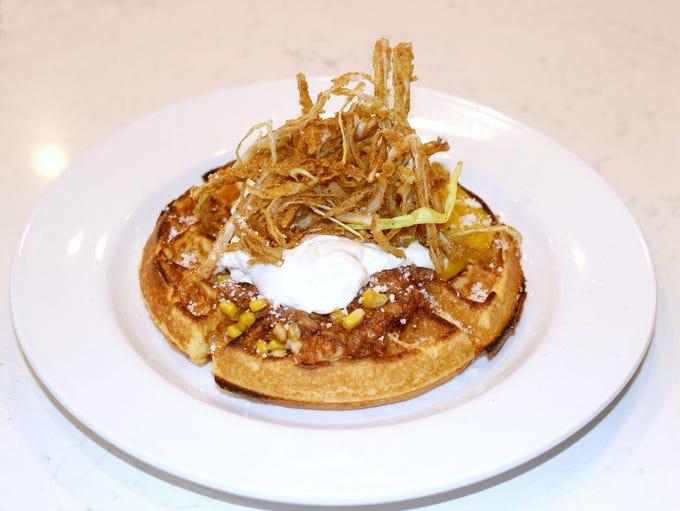 Hash Kitchen | Chili for breakfast? Sure. A thick cornbread