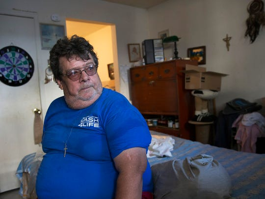Tenant Bruce Meicke said poor conditions in his apartment have contributed to his poor health. Meicke lives at 1215-17 Springwood Ave. in Asbury Park