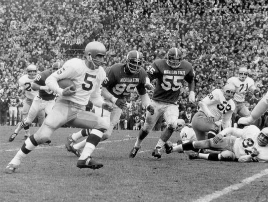 Michigan State vs. Notre Dame in the 1966 tie