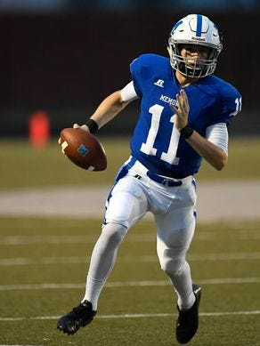 Memorial's Michael Lindauer was named The Courier & Press' Player of the Week for his performance in a win over Henderson County (Ky.).