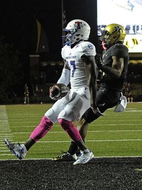 Tennessee State receiver Patrick Smith is the OVC offensive player of the week.