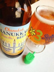 IN celebration of Hanukkah, Shmaltz Brewing Company in  Clifton Park, N.Y. offers Chanukah, Hanukkah, Pass the Beer. The golden, strong ale is brewed with Cacao nibs and is a perfect addition to any gathering.