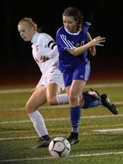 Cate Feerick (20) is a standout midfielder for Pearl River.