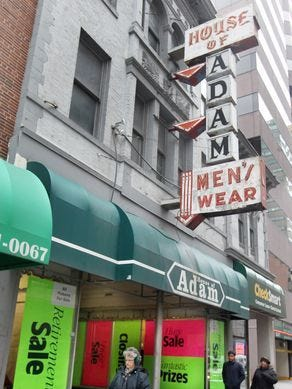 The Downtown building that housed the former House of Adam mens clothing store at 622 Vine St. has been nominated for inclusion on the National Record of Historic Places.