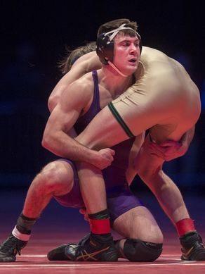 Brownsburg's Brayton Lee is among the wrestlers competing in the event on Saturday.