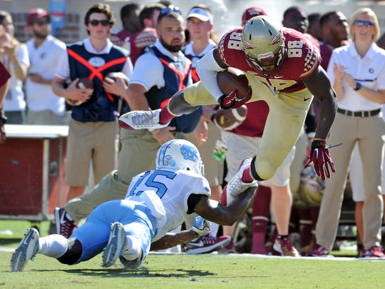 Redshirt junior tight end Mavin Saunders (88) hopes to make a noteworthy impact in Florida State's passing attack this spring and beyond.