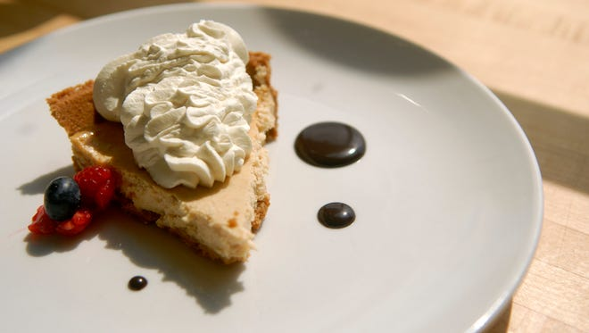 The Bourbon Barrel Cheesecake ($5) at Finn's Southern Kitchen in Germantown.