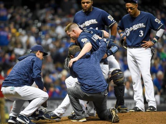 Pitcher Corey Knebel's injury in April was a big loss