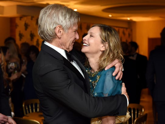Harrison Ford and Calista Flockhart were all smiles
