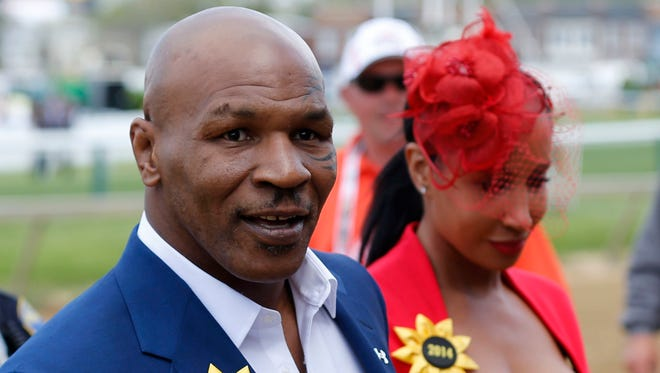 Former boxer Mike Tyson, shown here at the Preakness in 2014, has started a new venture.