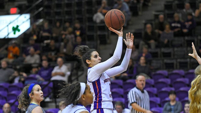 Shahd Abboud scored 11 points to help NSU defeat Central Baptist.