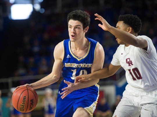 Brentwood's David Windley finished with 18 points and three 3-pointers in the Bruins' 56-51 win over Franklin on Dec. 1.