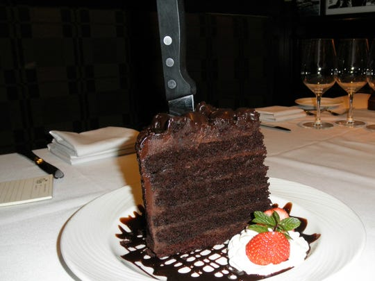 Big Chocolate Layer Cake at The Palm.
