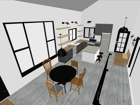Plans for my clients' home include task lighting, including