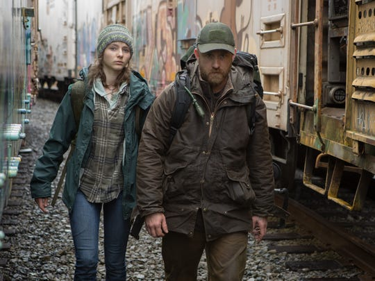 "Ben Foster and Thomasin McKenzie star in ""Leave No Trace."""