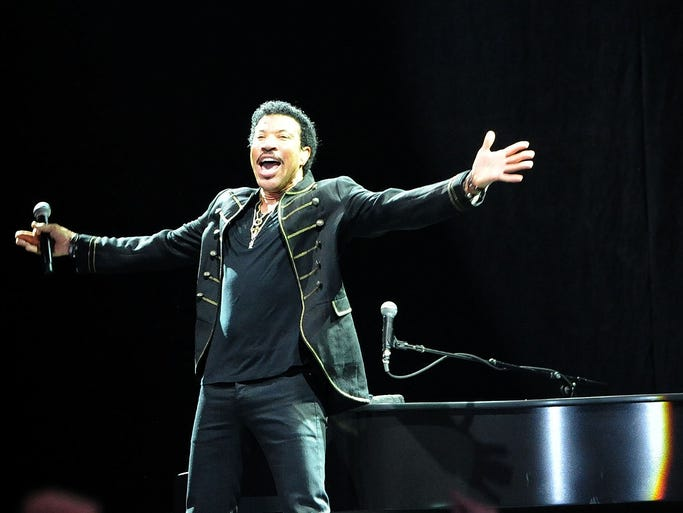 Lionel Richie performs at the Bonnaroo Music & Arts Festival on Saturday, June 14, in Manchester, Tenn.