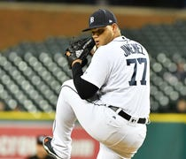 Right-handed reliever is being sent to Lakeland, F...