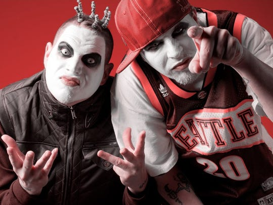 Madrox (Jamie Spaniolo)  and Monoxide (Paul Methric) of Twiztid will be at the Marquee Theatre in Tempe on April 17, 2018.