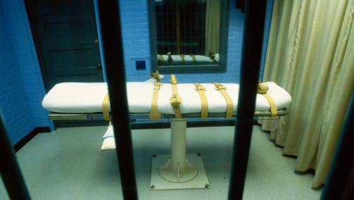 """Lawyers said the inmates' claims challenging the state's lethal injection process as inhumane are now moot, """"because their executions will be carried out at the appropriate time by nitrogen hypoxia."""""""
