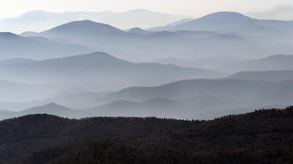 This is the view looking south from the top of Mt. Mitchell.