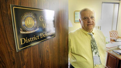 G. Paul Marx, public defender for the 15th Judicial District, is trying to find ways to fund the office.