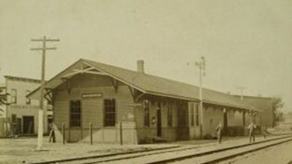 The old depot in an image circa 1910. (Provided photo)