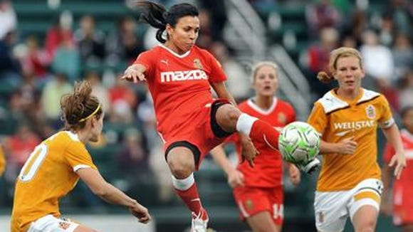 Marta, shown here playing for the Flash against Chicago, was one of the keys to WNY's championship season in 2011.