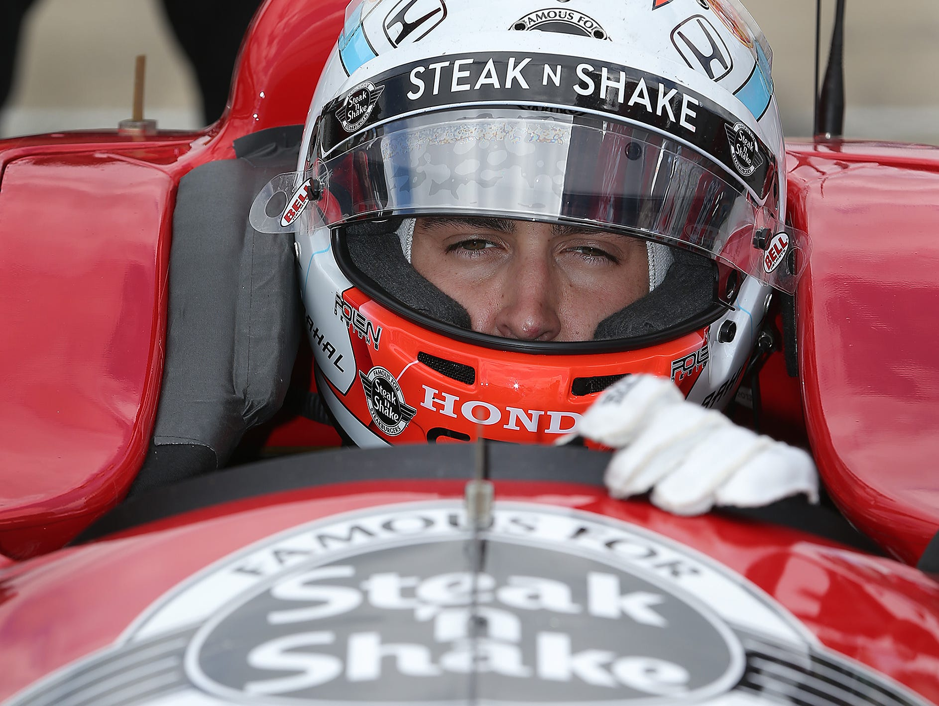 """Graham Rahal said every move made in IndyCar pack racing """"is life or death."""""""