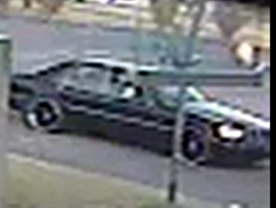 Video still shows the Title Max robbery suspect's car.