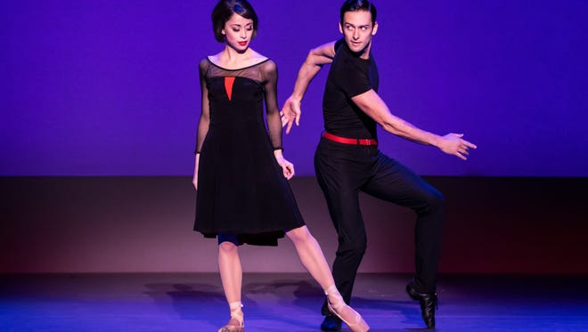 """Sara Esty and Garen Scribner in the national tour of """"An American in Paris."""""""