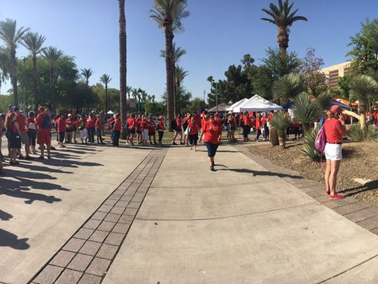 #Red4Ed advocates in line to get into the House building