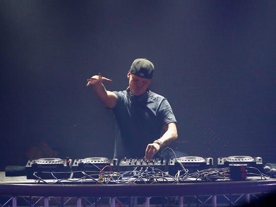 DJ Avicii performs onstage during Rolling Stone Live