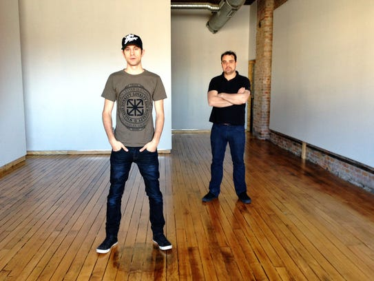 Dan Armand (left) and Jesse Cory (right) when they first moved into Inner State Gallery in 2013.