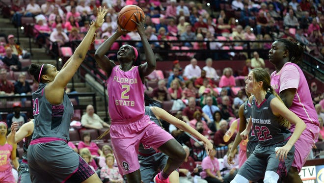 Adut Bulgak struggled against Notre Dame, only scoring six points in the 73-66 loss.