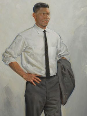 Medgar Evers, captured in this painting by Jason Bouldin, is not among the 21 recipients by President Obama to receive a Presidential Medal of Freedom.