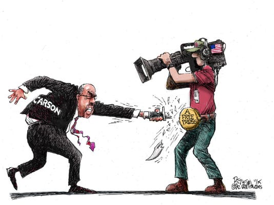 Carson's stab at the media