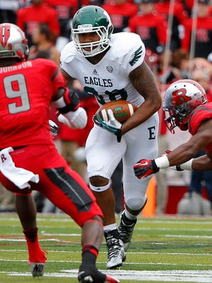 Eastern Michigan tight end Tyreese Russell (88) might be the best player at his position in the Mid-American Conference this season.