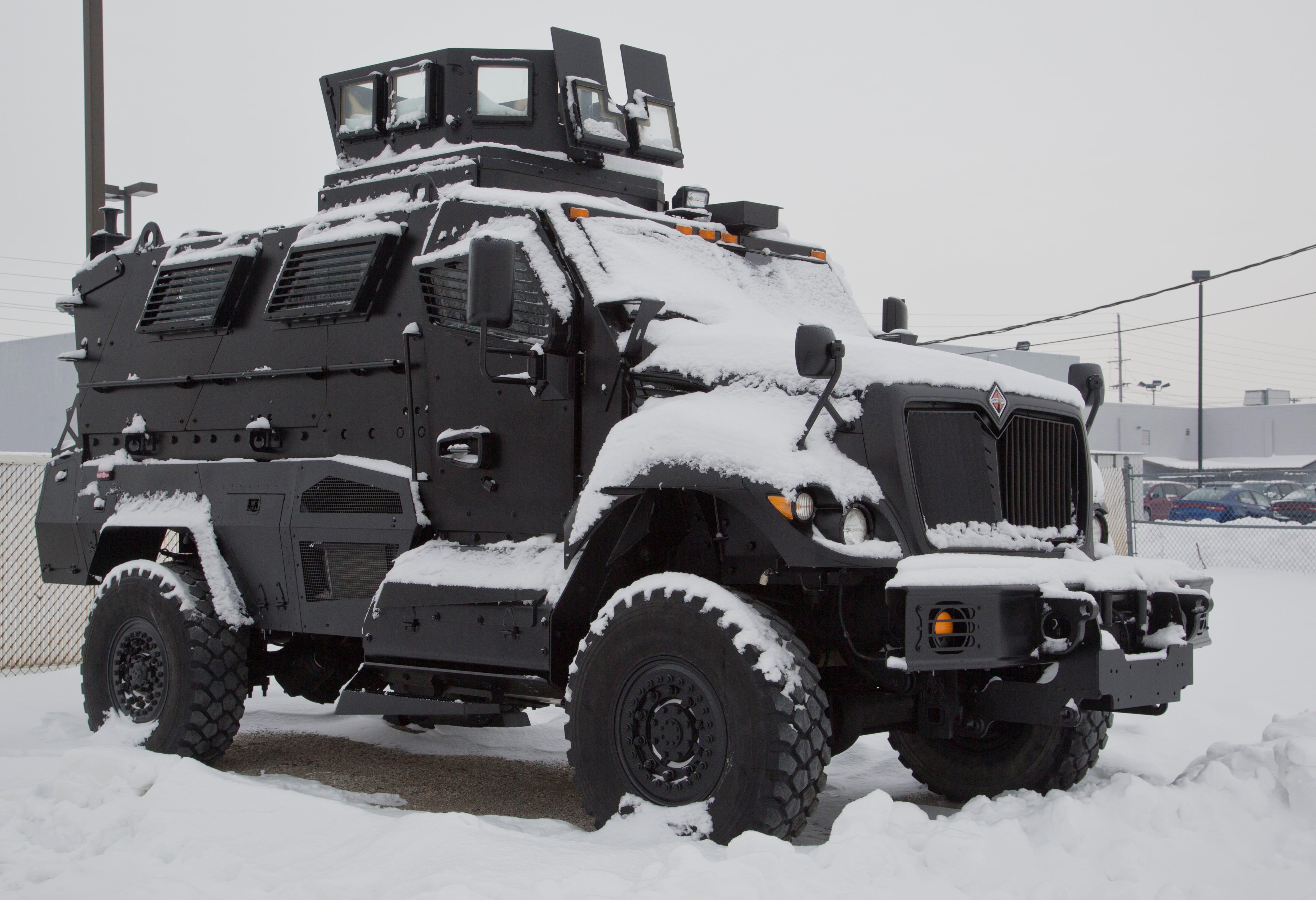 Bearcat police robot intimidating