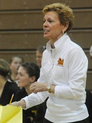 Mercy coach Loretta Vogel was thrilled with the victory