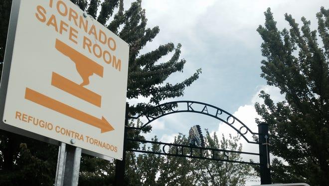 Kickapoo High School has a new auditorium that also serves as a tornado shelter. But no pets allowed.