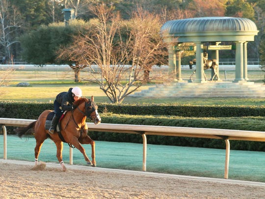 Whitmore puts in a breeze at Oaklawn Park.