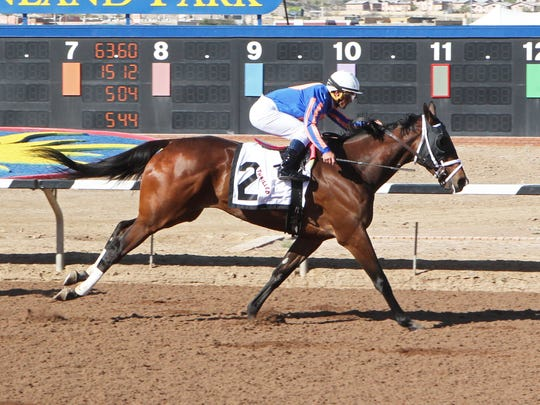 Thrilled won the Plum Pretty Stakes on Sunday at Sunland Park Racetrack & Casino.