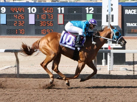 Ignored won the Copper Top Futurity on Tuesday at Sunland Park Racetrack & Casino. El Paso's Ruby Gonzalez was the winning jockey.