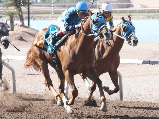 On the Low Down won the Copper Top Futurity  at Sunland Park Racetrack & Casino in April. On Saturday, he won the Mountain Top Futurity for New Mexico breds at Ruidoso Downs Race Track and Casino.