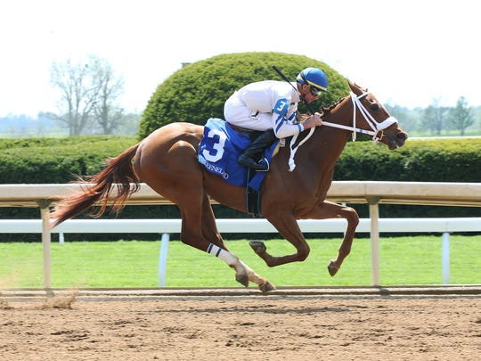 Waki Patriot picked up her first win during Keeneland's spring meet with jockey Corey Lanerie. The John Hancock-trained filly will race in Thursday's Park's $150,000 Astoria for 2-year-old fillies at Belmont Park.