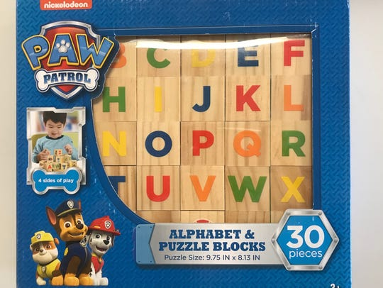 Team up with the 6 Paw Patrol puppies to have fun and teach a child the alphabet!