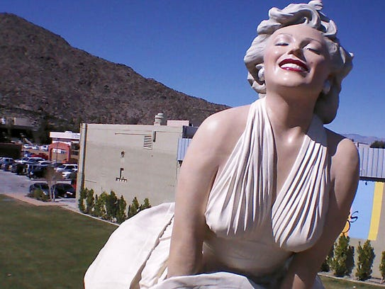 "The ""Forever Marilyn"" statue in downtown Palm Springs."