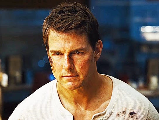 Tom Cruise is seen in a still image from the trailer