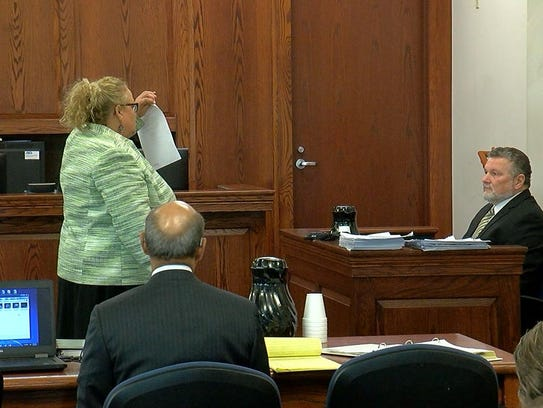 Defense attorney Deanna Dennison cross-examines former