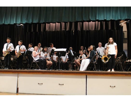 Band members ready to perform.